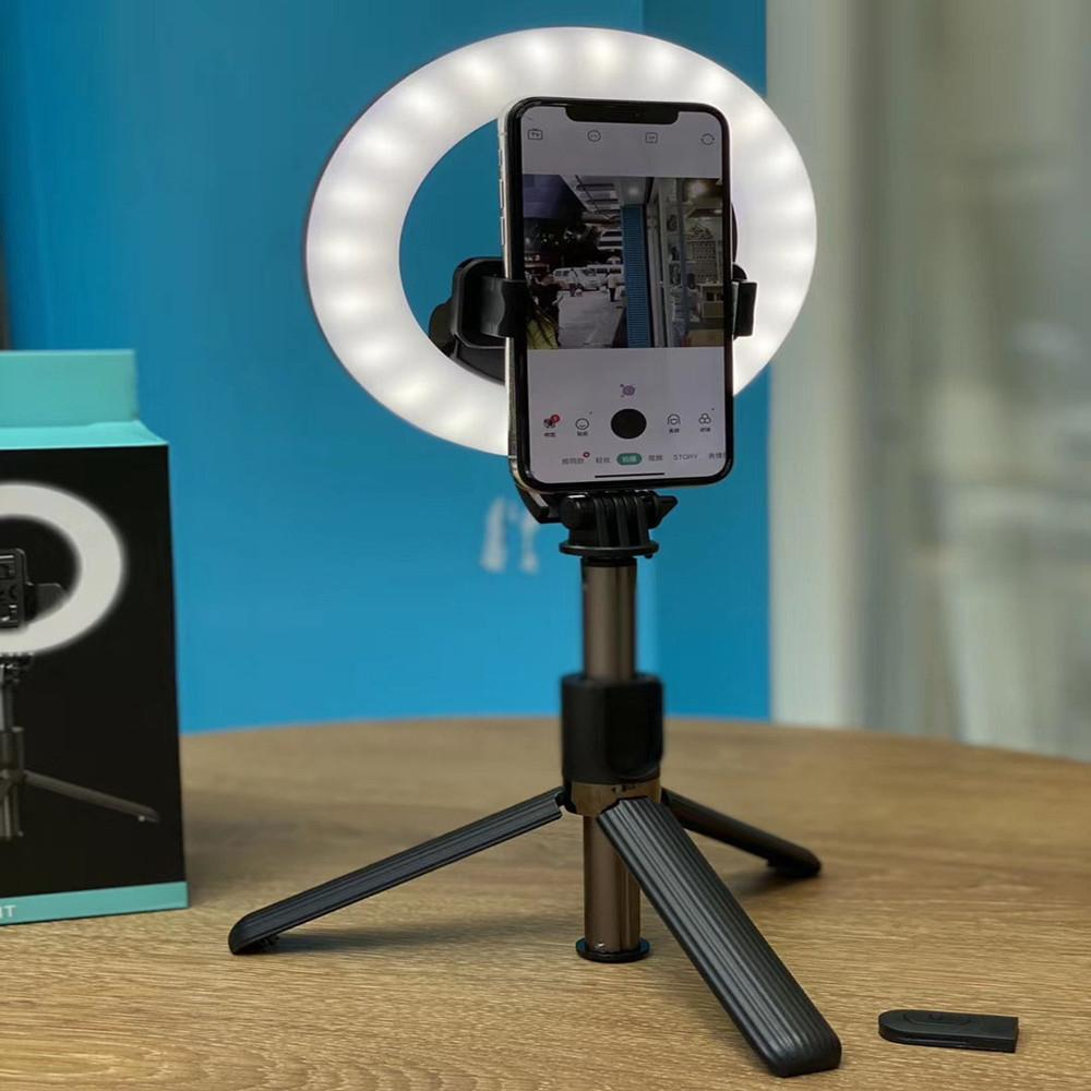 2020 nuevo venir soporte para teléfono L07 selfie Palo Monopod selfie anillo de luz con trípode para el maquillaje Fotografía Transmisión en vivo