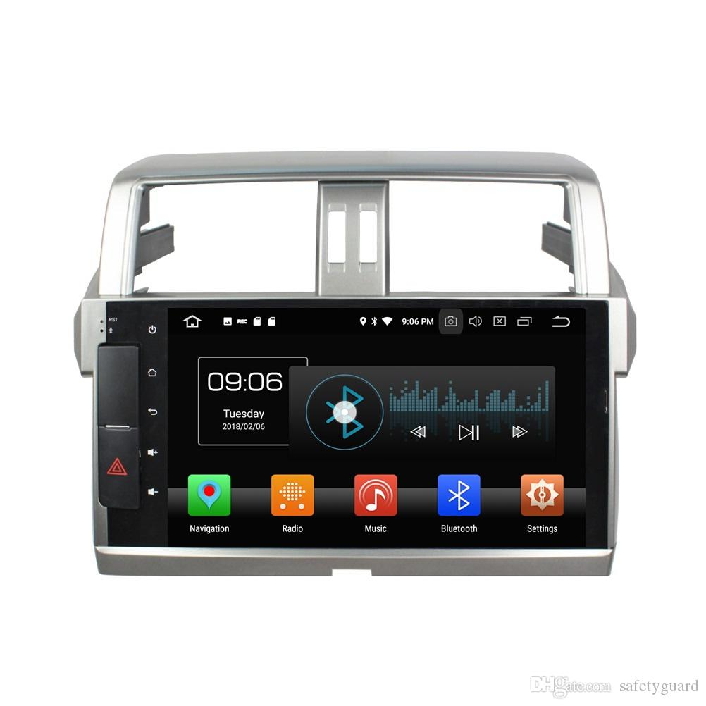 "4GB RAM 64GB ROM PX5 Android 8.0 Octa Core 10.1"" Car DVD for Toyota Prado 150 2014 2015 2016 2017 Car Audio Radio GPS Bluetooth WIFI USB"