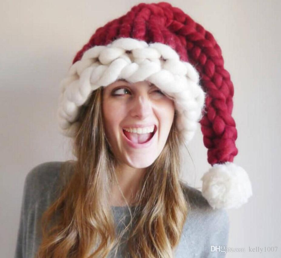 3styles Wool Knit Hats Christmas Hat Fashion Home Outdoor Autumn Winter Warm Hat Xmas gift party favor indoor tree decor