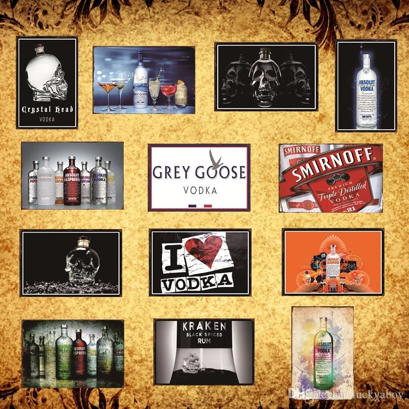 Vodka Tin Sign Retro Metal Painting Poster Bar Pub Signs Christmas Decor Art Man Cave, Cool Novelty Gift, Bar Pub DH003