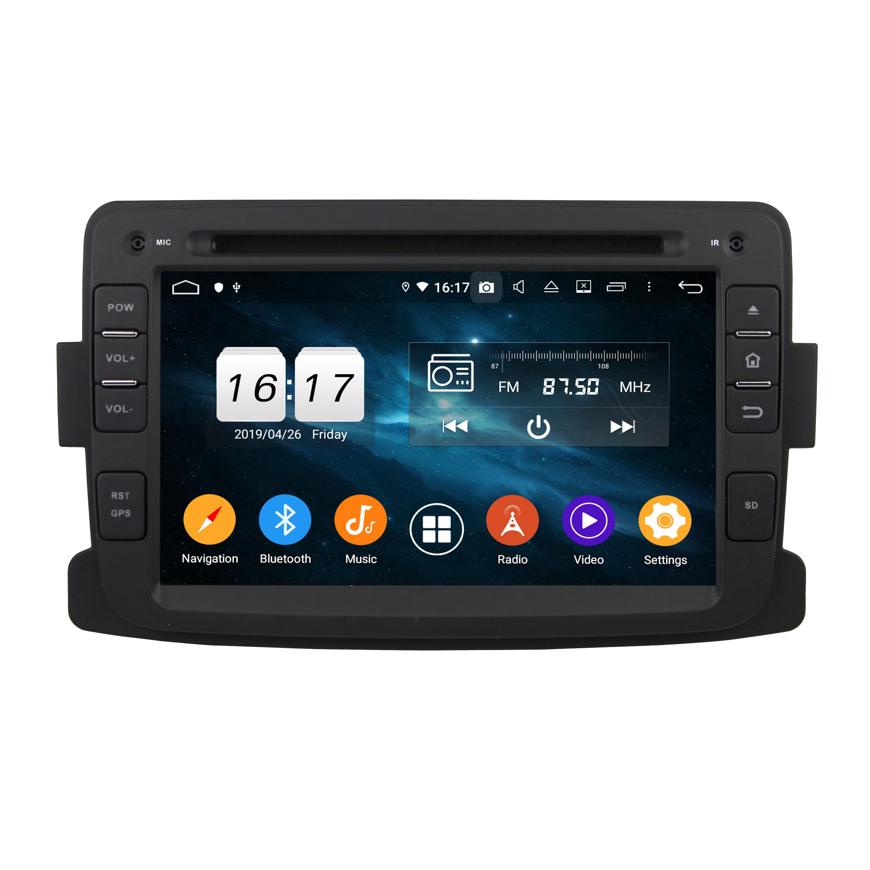PX5 8 Ядро Android 9.0 4G 32G 1 DIN Автомобильный DVD GPS стерео для Renault Duster 2014-2016