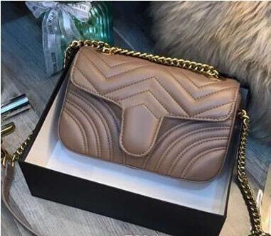 Moda Aşk kalp V Dalga Desen Satchel Tasarımcı Omuz Çantası Zincir Çanta Lüks Crossbody Çanta Lady Tote çanta