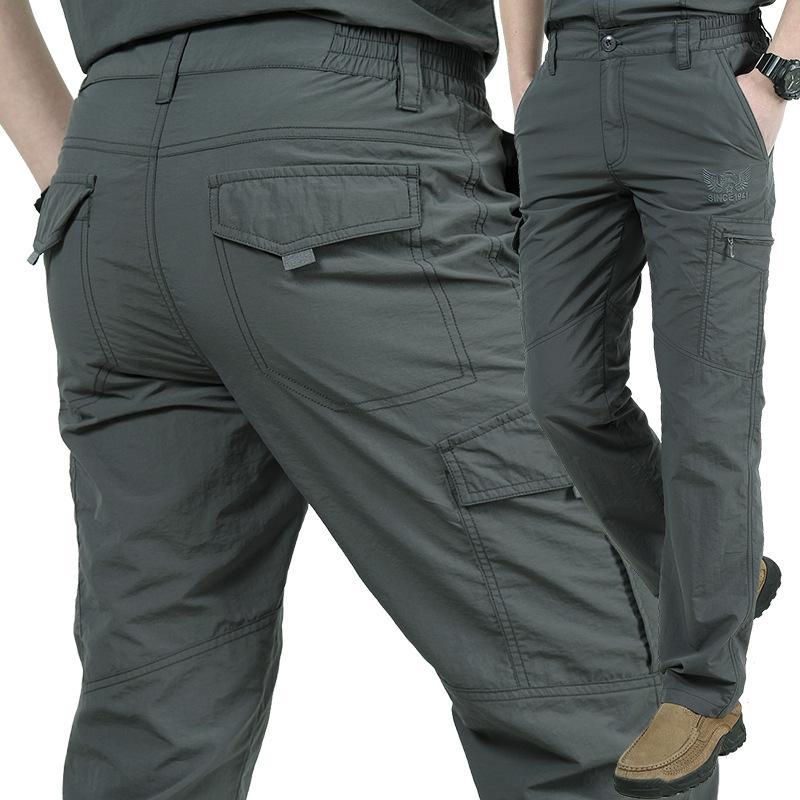 FGKKS Nouvelle arrivée Hommes Cargo Pantalons mâle droit en vrac Automne Mode Pantalons Comfortable Bas Pantalons simple d'homme