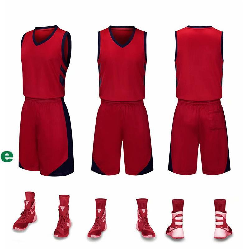2019 Nouveaux maillots de basket-ball Blank logo imprimé taille Mens prix S-XXL pas cher expédition rapide de bonne qualité NOUVEAU ROUGE FEU FE001AA12r