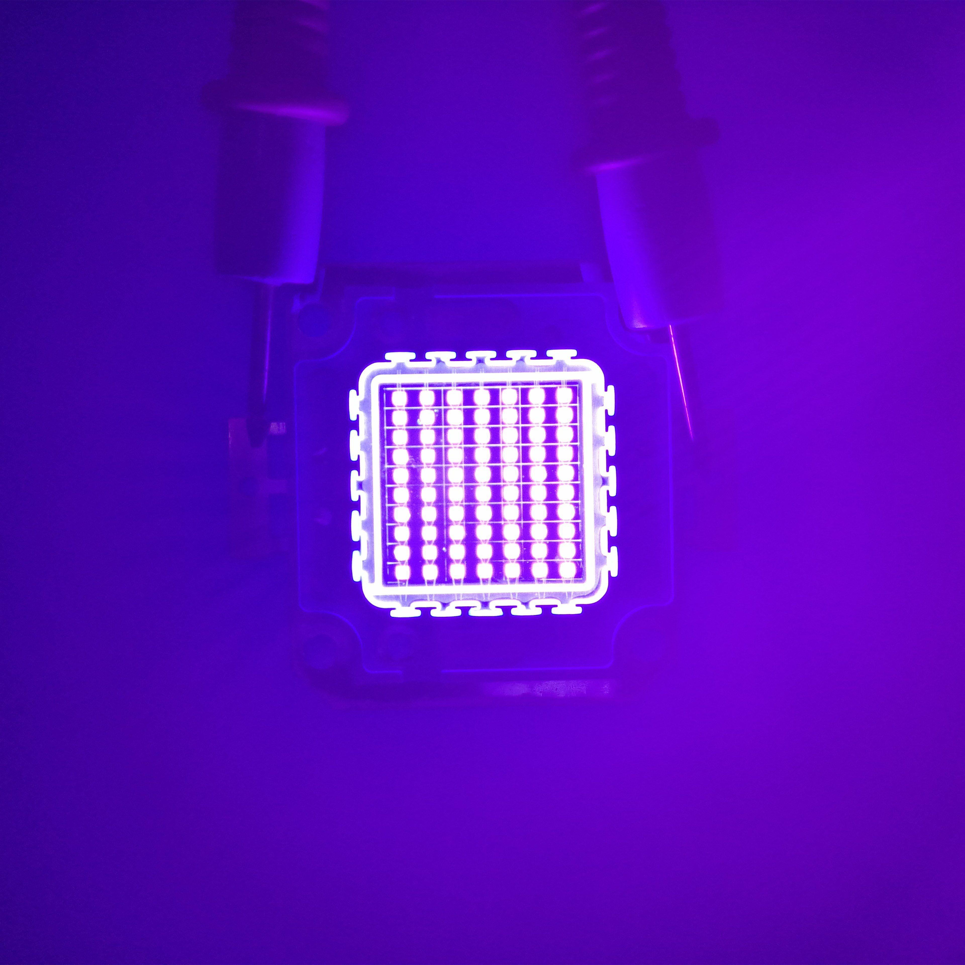 10w 30w 50w 100w UV-LED-Licht 45mil Ultra Violet High-Power LED-Lampe UV 365nm 375nm 385nm 395nm 405nm LED Ultra Violet Licht Perlen