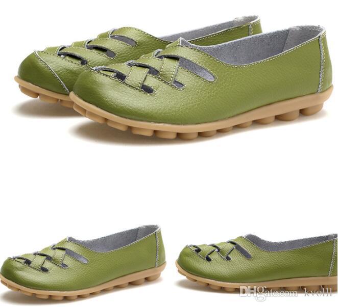 regalo della madre scarpe casual delle donne classiche sandali piatto anti scarpe da infermiere slittamento della spiaggia di estate Primavera scarpe cave 18 pz colore