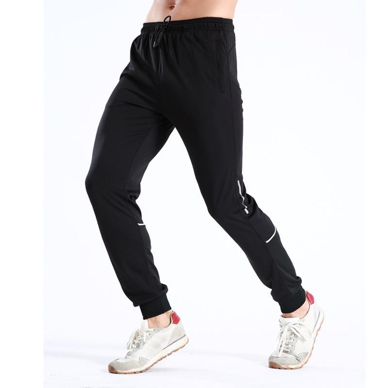 Secagem rápida e respirável de homens correndo calças adequação da formação e calças Desporto Lazer