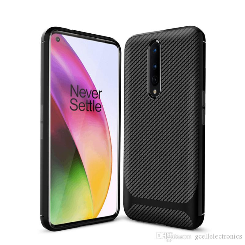 For One Plus 8 7T Pro Huawei P Smart Z 2019 Redmi Note 8T 8 Carbon Fiber TPU Cell Phone Cases Shockproof Case