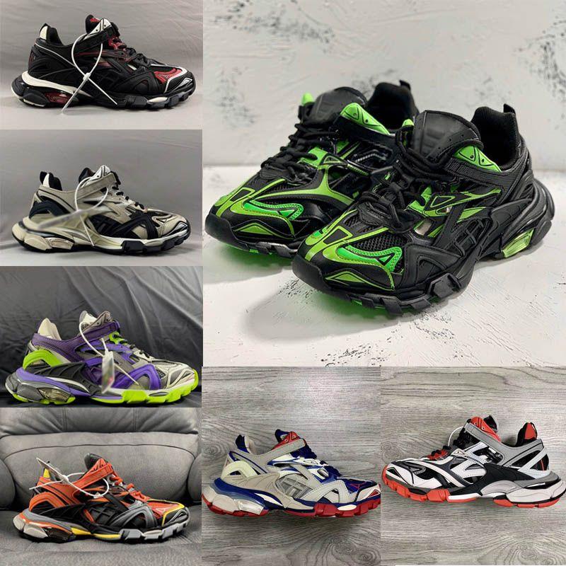 أحذية الرجال t الرف 2 حذاء ثلاثي المدرب المطاط النساء الأحذية chaussures رجل مصمم الأحذية الأزياء الفاخرة مصمم المرأة عارضة أحذية رياضية