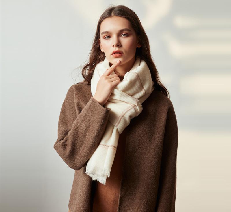 بالجملة، وأمريكا أزياء دافئ والأوشحة الطويلة غطاء المتضخم ترتان التفاف شال المرأة الكشمير الشتاء مزيج من الصوف الناعمة الدافئة وشاح منقوشة