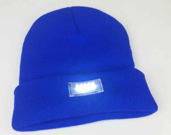 Lã lâmpada LED chapéu do knit luz Barrete Beanie pesca quente manutenção montanhismo noite com inverno camuflagem luz