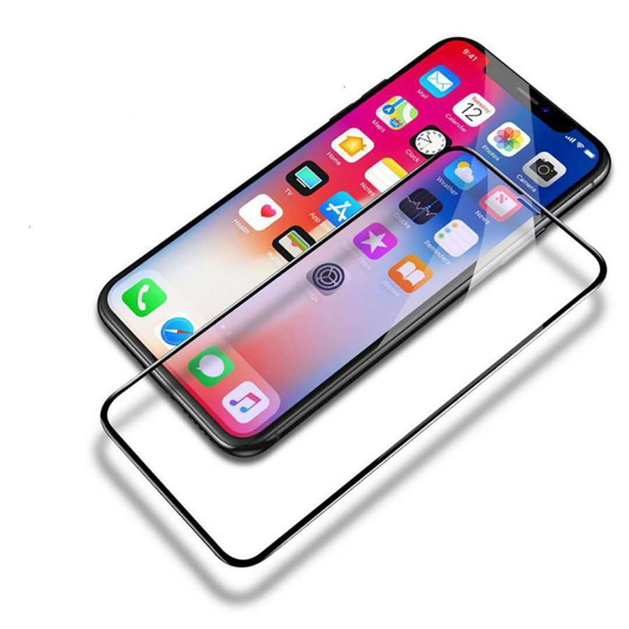 iphone temperli cam X Xr Xs XsMax 8 7 6 Plus ekran koruyucusu Ultra İnce Şeffaf temperli cam Süper İnce Şeffaf Film İçin Toptan