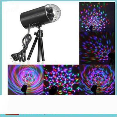 EU 220V US 110V Mini Laser Projector 9w Light Full Color LED Crystal Rotating RGB Stage Light Home Party Stage Club DJ Show