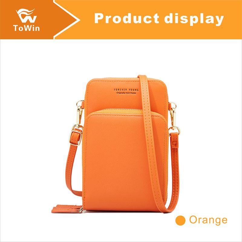 Classic Crossbody Bag Luxury Women Cell Phone Pocket Handbag Quality PU Leather Designer Shoulder Bag Wallet Messenger Bags Cellphone Pouch