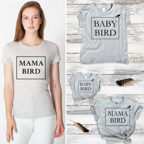 Mère T-shirt à manches courtes Fille famille maman fille mère enfant Chemise lettre imprimée Tops 2019 Hot vente