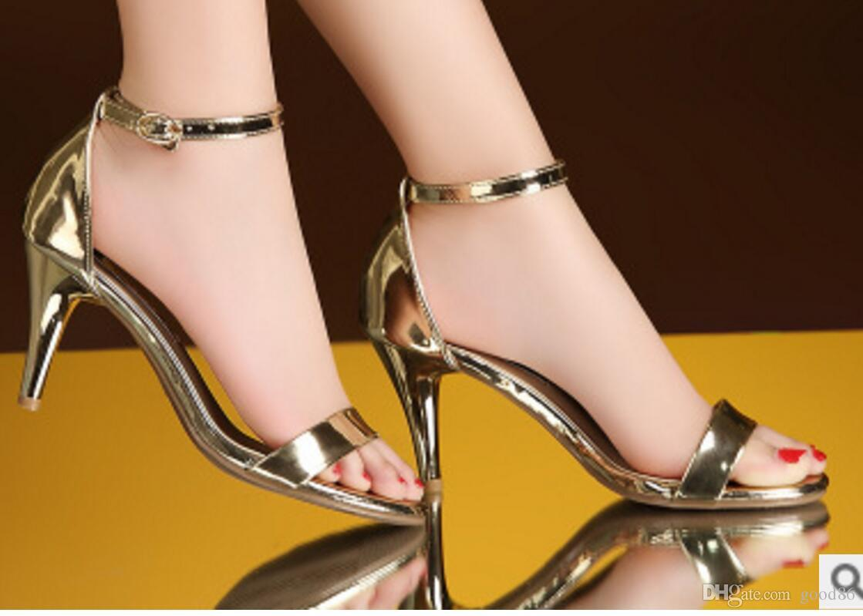 6 Inch High Heel Stilettos Open toe Platform Buckle Night Club Women Shoes New
