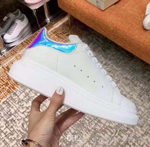 Scarpe casual in pelle piattaforma classico design di lusso Trainer delle donne degli uomini della Marina della pelle di serpente 3M Sneakers Velvet Chaussures f5