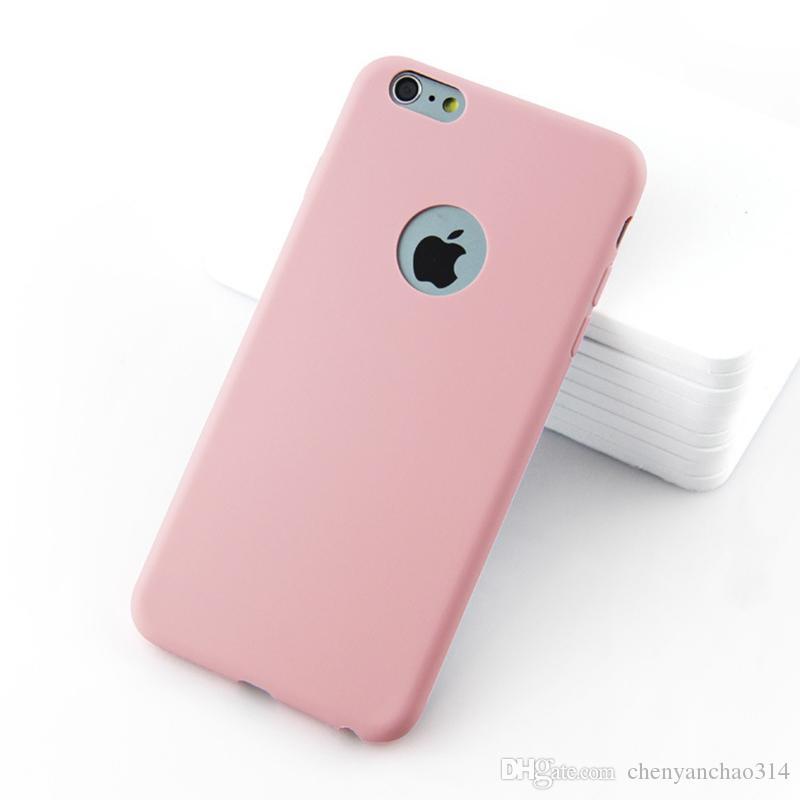 Original Soft Silicone Case for iPhone 6 S 6S 7 8 Plus 5 5S X 10 XR XS Max 6Plus 6SPlus 7Plus Cute Candy Anti-knock rubber Cover