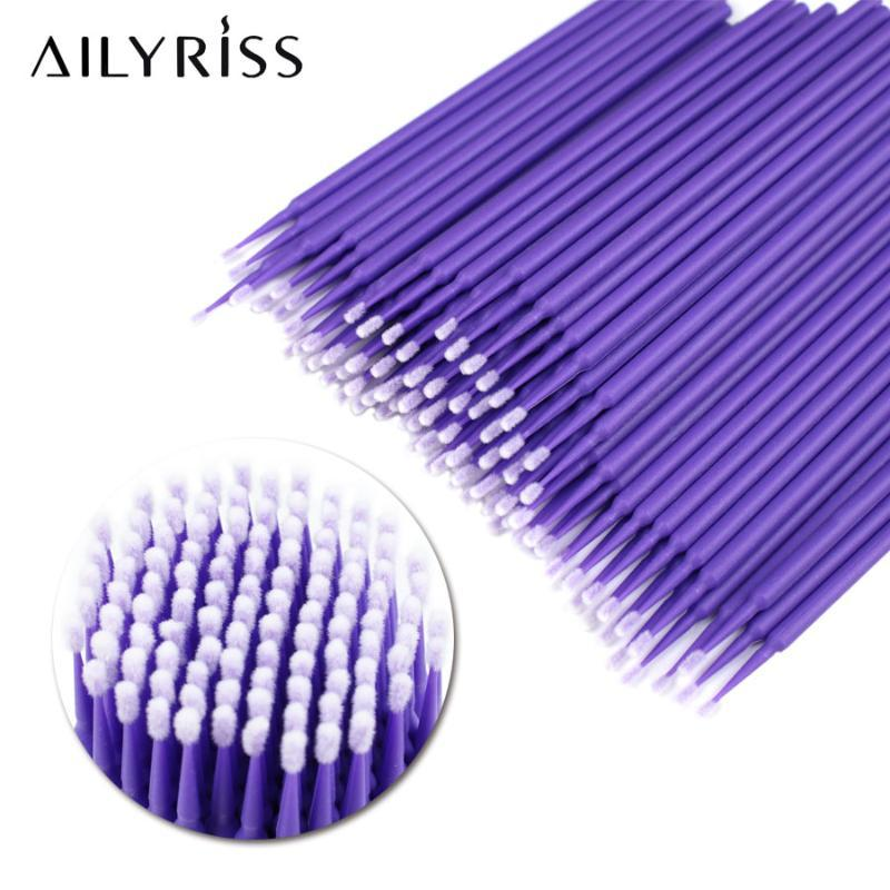 Disposable Micro Brush 100pcs Eyelashes Extension Individual Lash Removing Micro Brush Eyelash Extension Tool Lashes Accessories