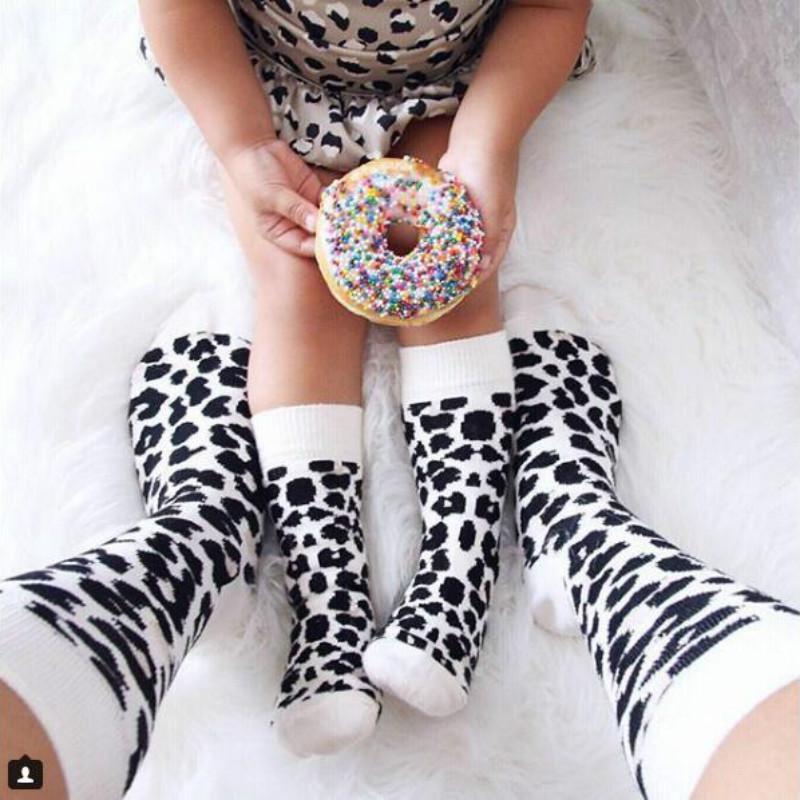 1-3 лет хлопок Весна Зима Осень девочки мальчики дети носки дети Леопард взрослые носки Рождество