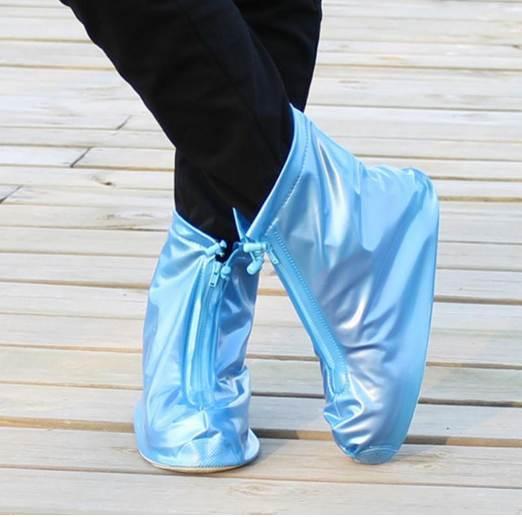 En Yeni Yeniden kullanılabilir Unisex Su geçirmez Koruyucu Ayakkabı Boot Kapak Yağmur Ayakkabı Yüksek Üst Kaymaz Ayakkabı Kapağı Kapaklar