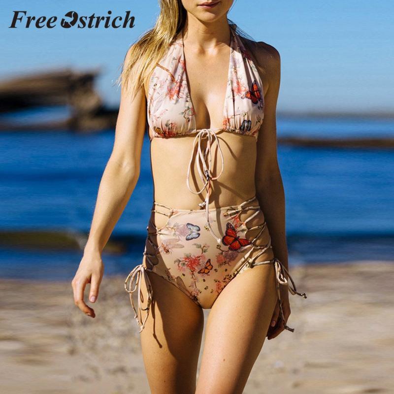 Gratuit Autruche Hot Push-up Femme Femme Soutien-gorge rembourré Bandage Ensemble maillot de bain bain imprimé mode multiple Coincé sur le costume