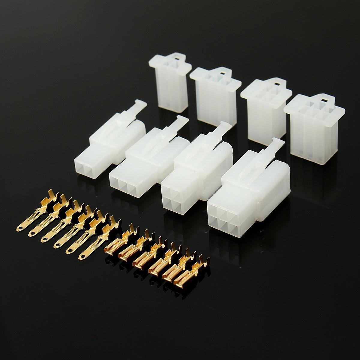 40 conjuntos Autos motocicleta del coche eléctricos 2,8 mm 2 Conectores terminal del conector 3 4 6 clavo de alambre