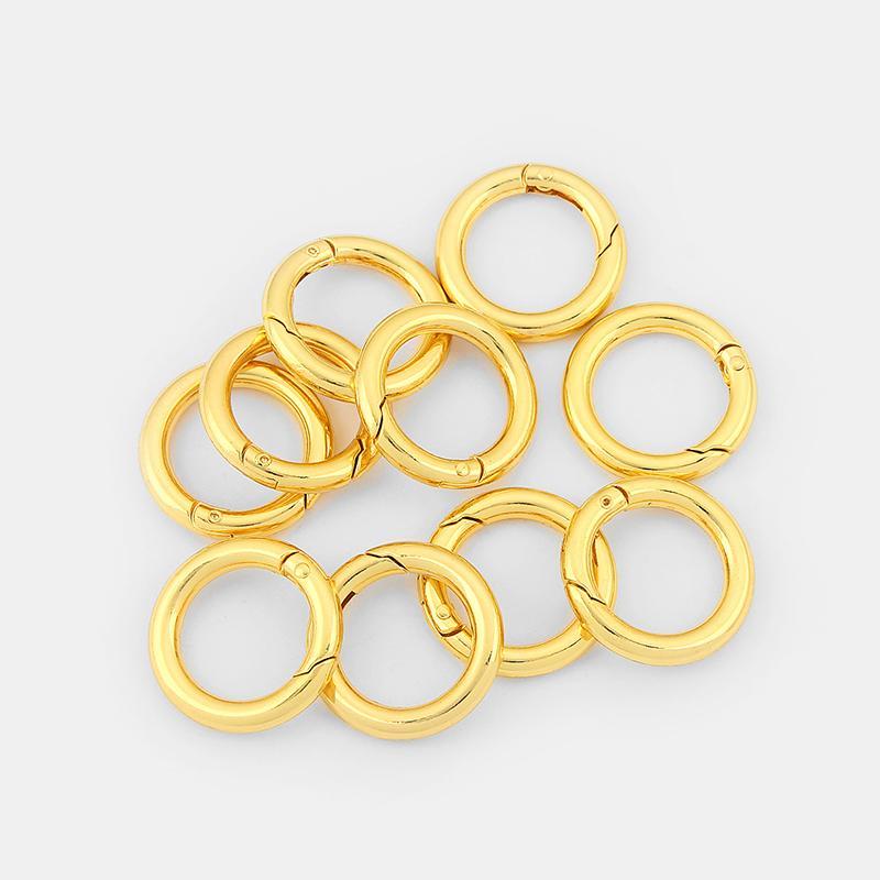 Золотой тон легко кожура круг Весна застежка для ожерелье браслет брелок разъем ювелирных изделий выводы аксессуары