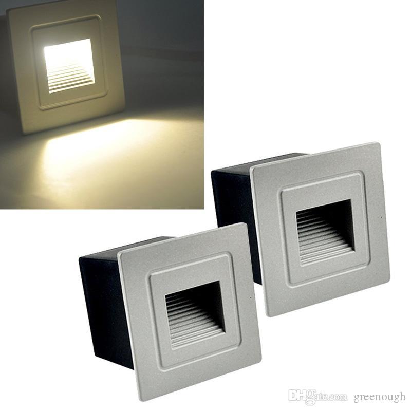 3 W CONDUZIU a arandelas de parede Iluminação Luz Da Noite Lâmpada Do Ponto Do Armário À Prova D 'Água Piso Escada Da Escada Underground Spotlight Indoor Ao Ar Livre CONDUZIU a Lâmpada 10 pcs
