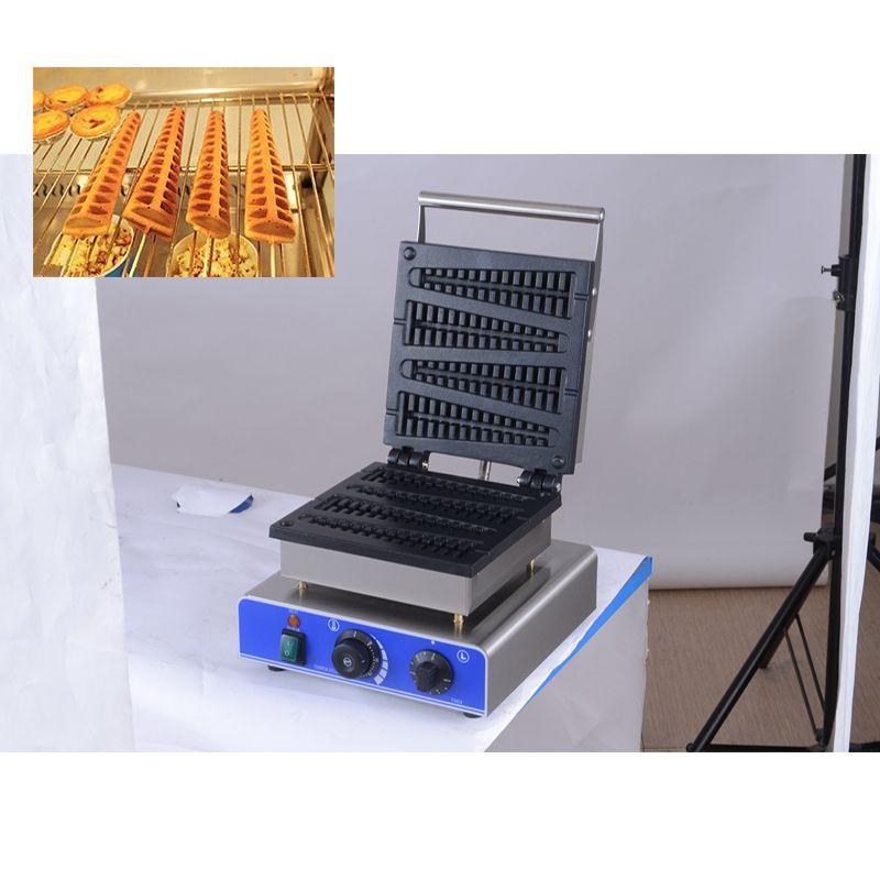 Commercial CE électrique 110V 220 V 4pcs bâton Lolly machine gaufrier Waffle bâton Baker four Waffle cake fer
