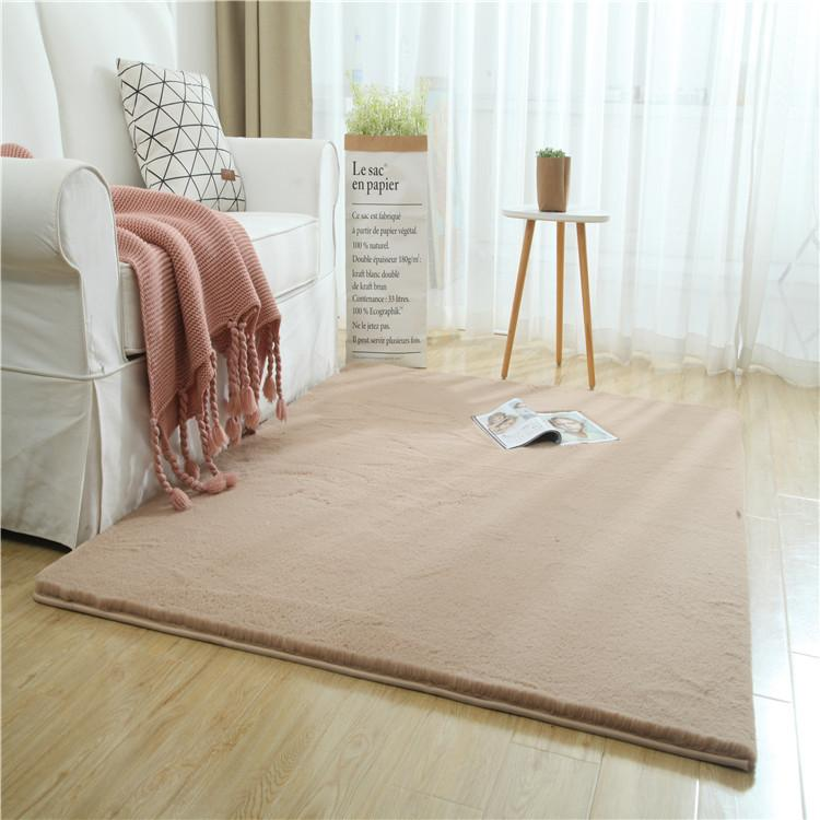 FBC19011019 Modern Imitation Rabbit Hair Floor Carpet Pure Color Floor Rug For Living Room Bed Room Sitting Room Home Decoration Door Mat