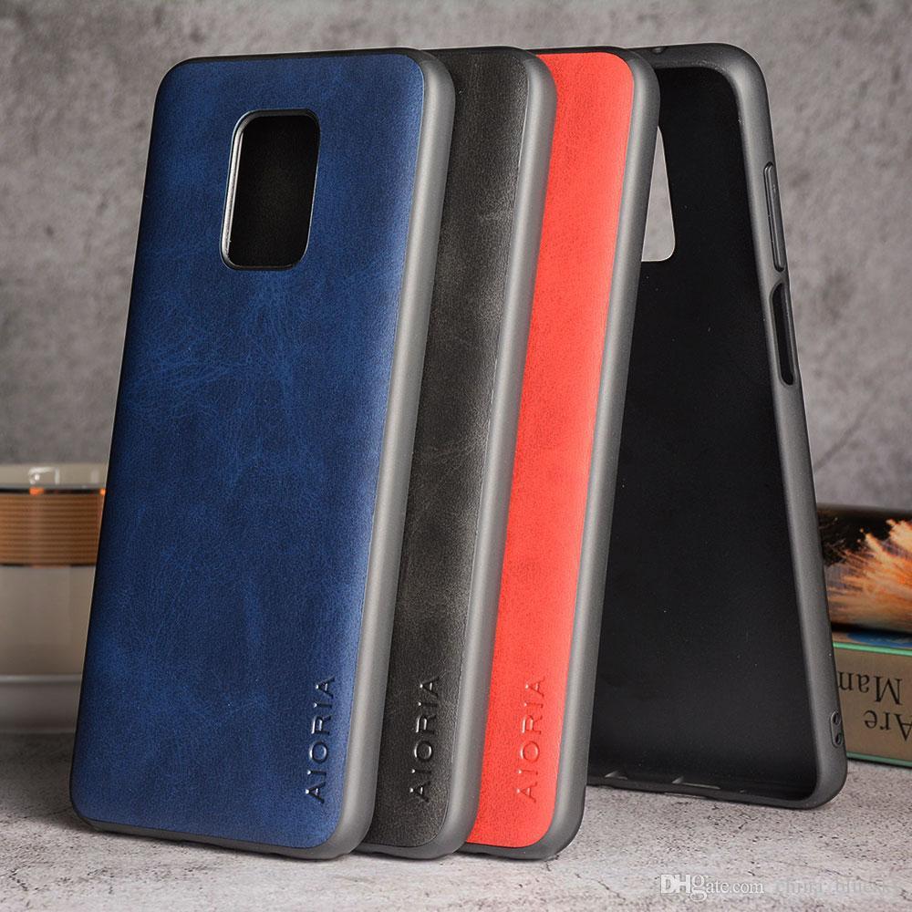 Funda para Xiaomi Redmi Note 9 S 9 Pro TPU + PC material de negocios estilo PU piel de cuero TPU + PC material de negocios estilo PU piel de cuero pequeño que