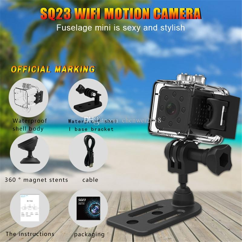 SQ23 WiFi mini Kam Full HD 1080 P su geçirmez Spor DV DVR Kaydedici 155 Derece Geniş Açı Gece Görüş Küçük Eylem kamera