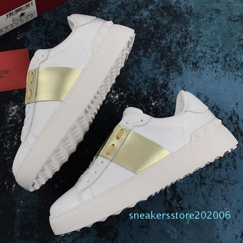 Männer Frauen Mode Luxus-Designer-Schuhe Weiß Lederspringgamaschen Sneaker mit blauem Band NY0S0830 BLU G62 Trainer-Turnschuhe mit Kasten s06
