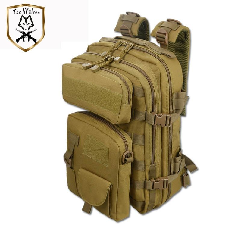 50L Tactical Backpack 3 Em 1 Bags militares escalada esportiva Mochila Exército Backpack Molle Outdoor Bag Men Camping Caminhadas Travel Bag