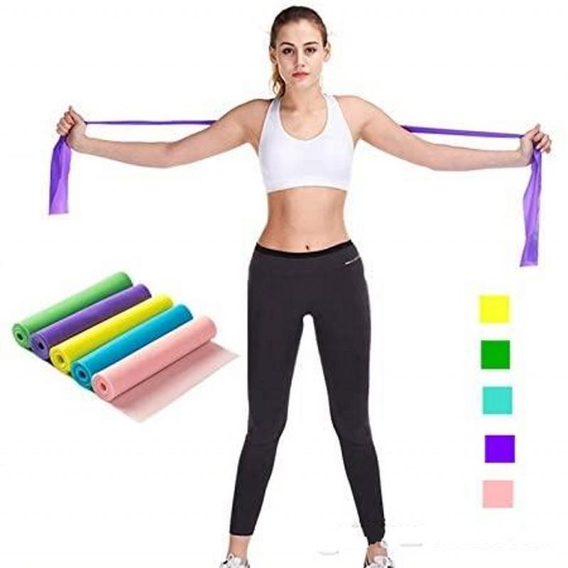 Йога Пилатес Устойчивость к растягивающему Упражнение Упражнение Фитнес-тренажер Обучение Йога Натяжение Ремень Упругая растяжка 1200 мм