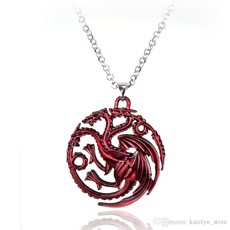 Game of Thrones Necklaces for Men Hand Of The King Pendant Necklace Male Steampu