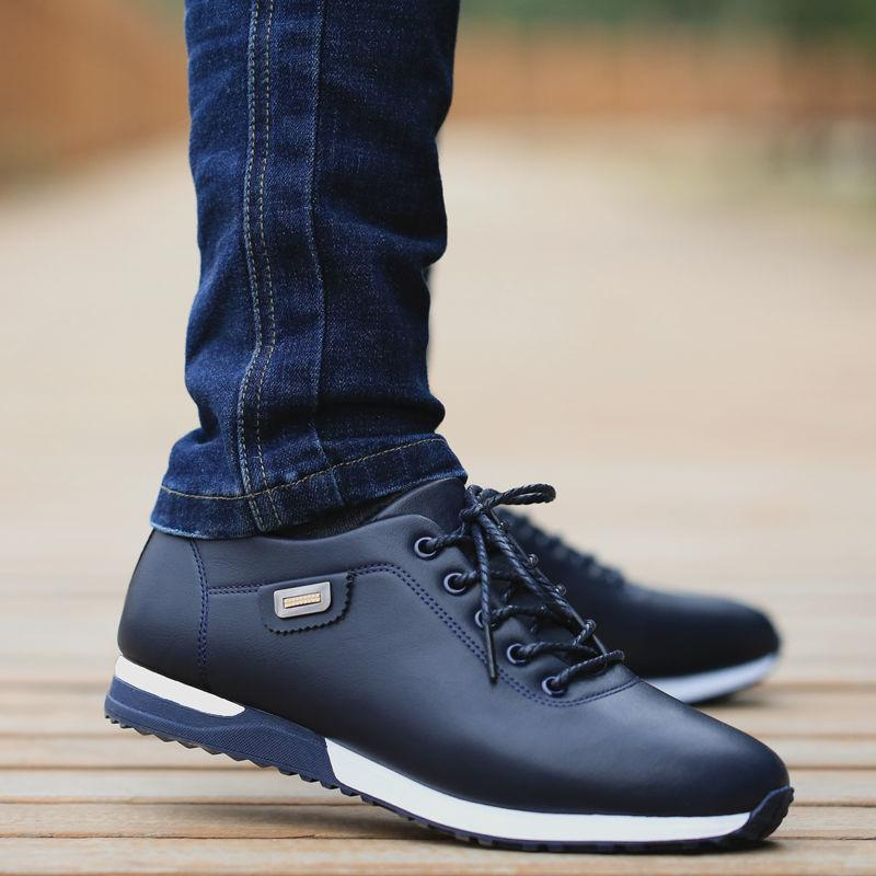 Mens PU Leather Business Casual Shoes