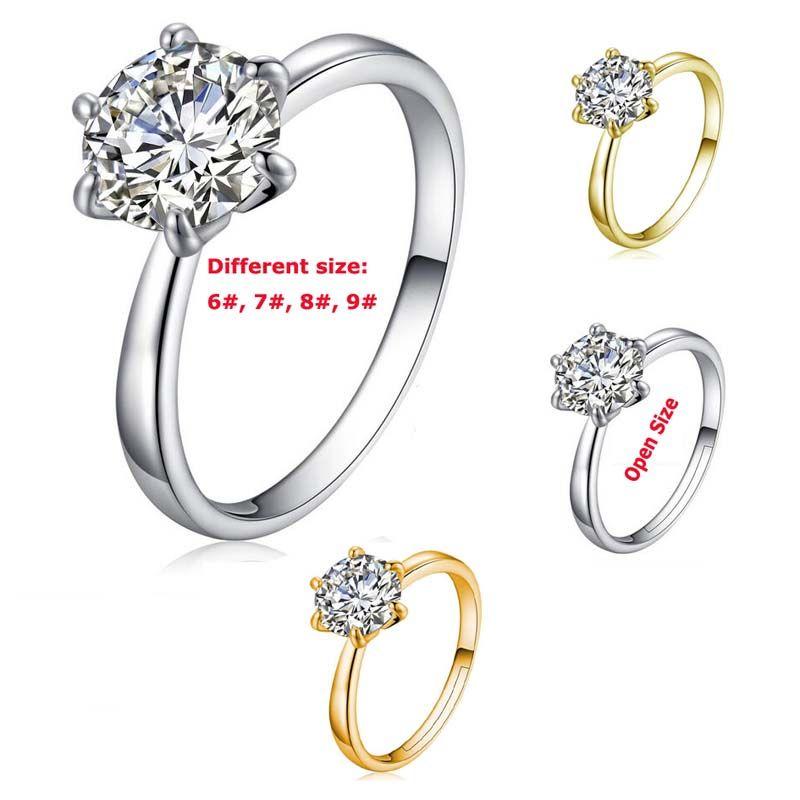 30% Sterling Silver Obrączki Dobrej Jakości Kryształowy Pierścień Pierścień Dla Kobiet Dziewczyna Party Moda Biżuteria Darmowa Wysyłka - 0001Wr