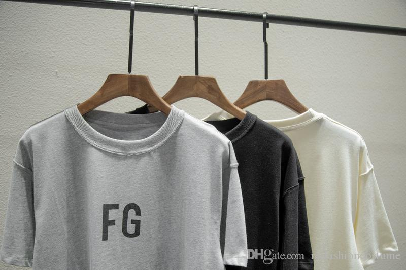 19SS Logotipo de la cadera Miedo de manga corta DIOS T FG Niebla de gran tamaño 6ta camiseta Monopatín de la camisa del salto de los hombres de la camiseta de la camiseta de las mujeres de algodón fresco y XDQXB Lmpdo