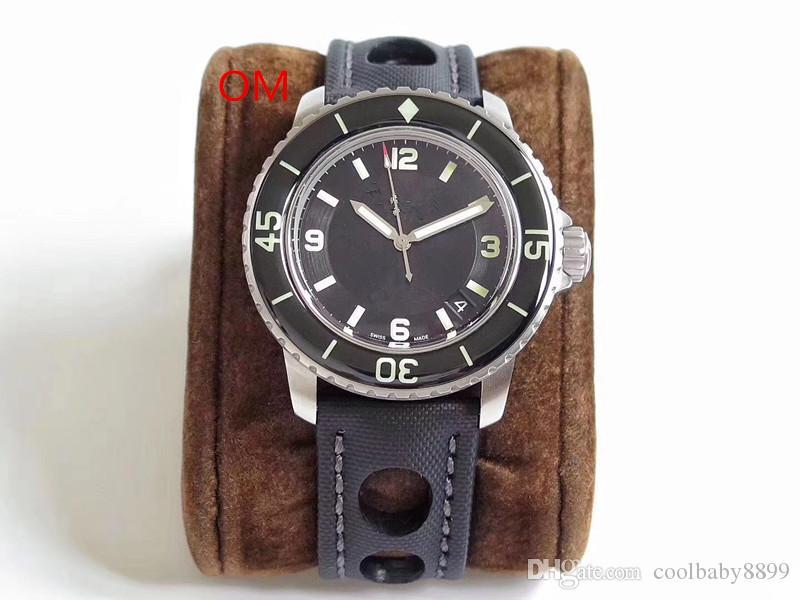 OM Pervane tamamen otomatik mekanik hareketi naylon Watchband tasarımcı saatler lüks erkek Orologio da uomo saatler