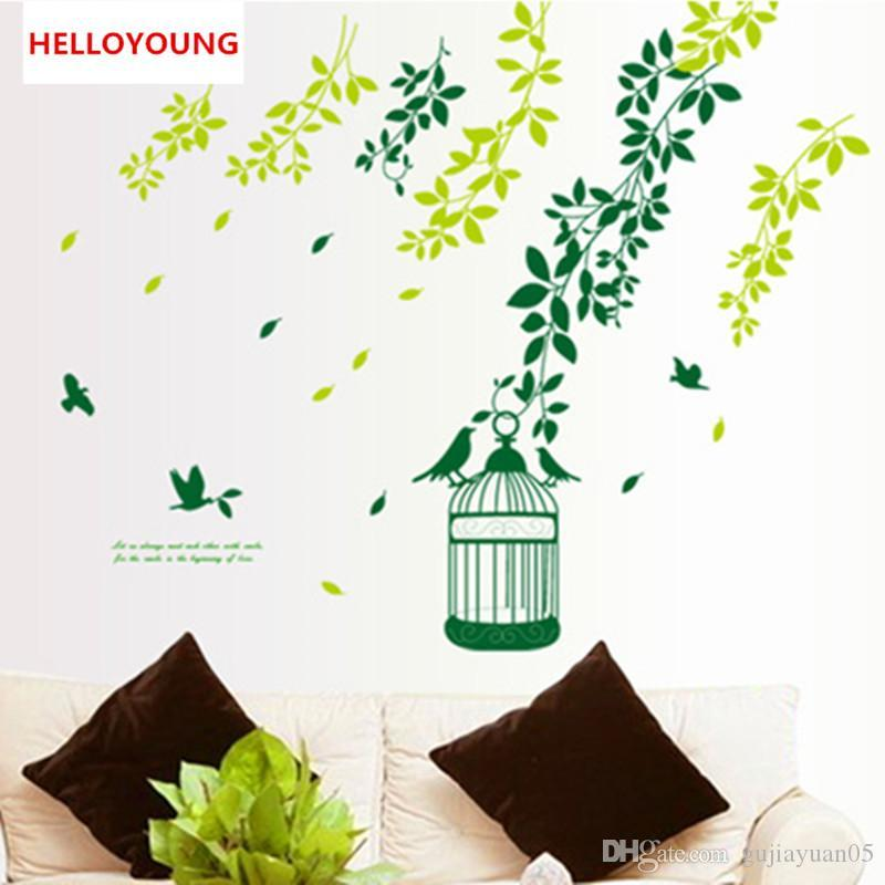 DIY Home Decorative Home Gardening Bedroom Wall Stickers Waterproof Rural Wallpapers Mural All-match Style