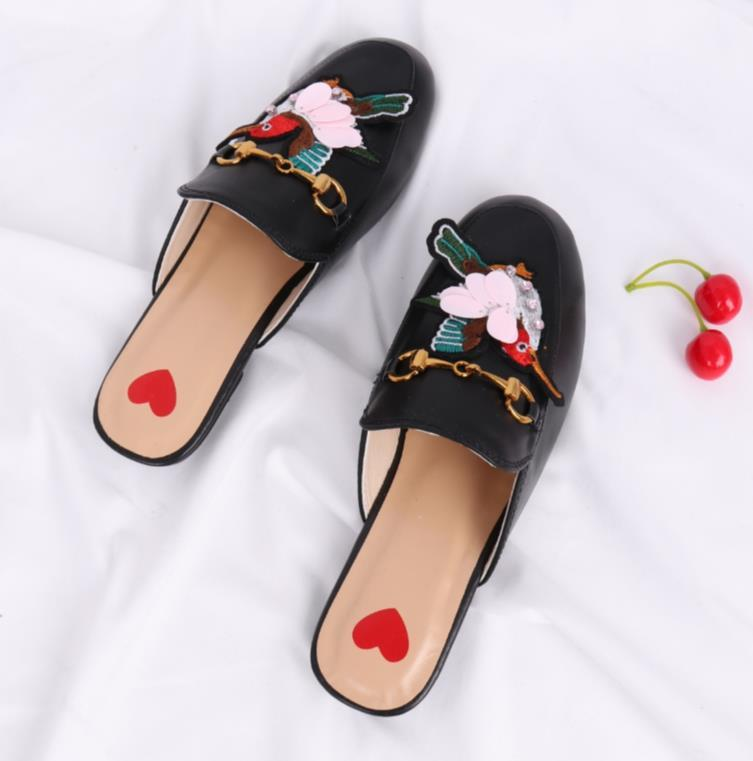 Designer-ood wear lazy shoes baotou low with clasp wild slippers women