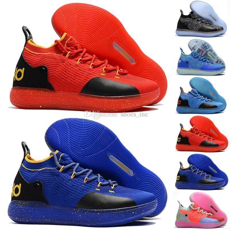 KD Kids 11 Multi color zapatos para la venta de calidad superior Kevin Durant zapatos de baloncesto al por mayor tienda de envío gratis EE.UU. 5-12