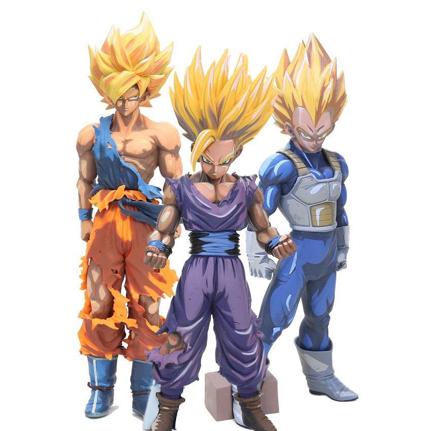 MSP Dragon Ball Z Master Stars Piece Son Goku Manga Dimension gohan Super Saiyan Vegeta PVC dragonball Action Figures model toy Y200104