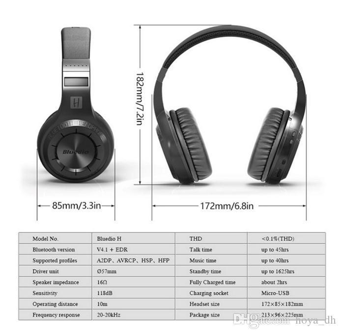 블루투스 헤드셋과 잘가 구동 최신 Bluedio HT 무선 블루투스 헤드폰 BT 4.1 좋은 음질의 스테레오