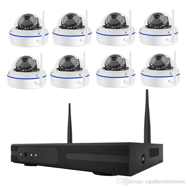 أمن الوطن كاميرا cctv نظام nvr 8ch ip cctv كيت hd 960 وعاء p2p ir للرؤية الليلية التوصيل لعب فيديو المراقبة wifi كيت