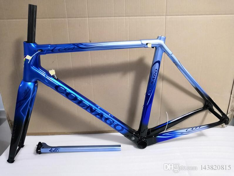 2019 neueste Colnago C64 Carbon Rahmenset Vollcarbon-Fahrradrahmen T1000 UD Carbon Rennrad Rahmen Größe 48cm 50cm 52cm 54cm 56cm