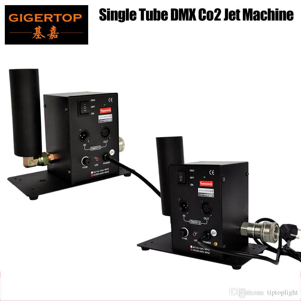 무료 배송 2pcs / lot 싱글 튜브 이산화탄소 기계 제트 효과 무대 조명 이산화탄소 촬영 효과 DMX512 칼럼 제트 장비 110V / 220V TP-T27