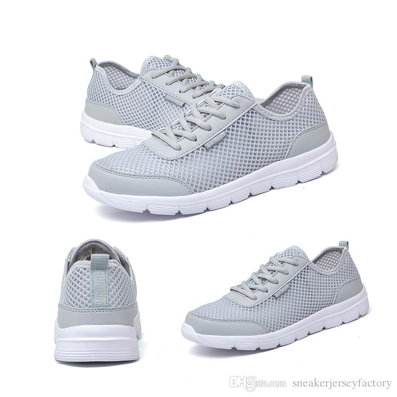Été Mode hommes femmes respirant chaussures de course Noir Blanc Gris Rouge Volt marque maison Fabriqué en Chine de jogging baskets de sport de marche